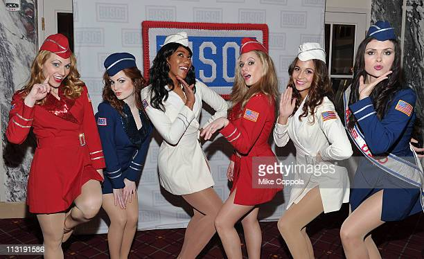 The Liberty Bells attend the USO 45th Annual Woman Of The Year Luncheon honoring Military Women and Women Business Leaders at the Grand Ballroom at...