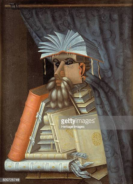 'The Librarian' an oil on canvas painting by Italian artist Giuseppe Arcimboldo circa 1566 Found in the collection of Statens porträttsamling...