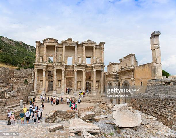 CONTENT] The Library facade has been reerected from the remains found in archeological digs It is a large two story facade presenting the grandeur of...