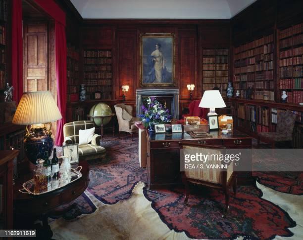 The library inside Dunrobin Castle Golspie Scotland United Kingdom 17th19th century