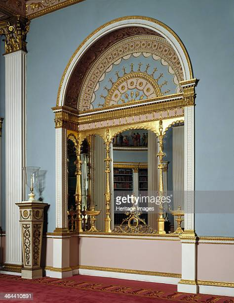 The library Kenwood House Hampstead London 1995 A detail of a mirrored recess in the Library at Kenwood House The archshaped alcove is richly...