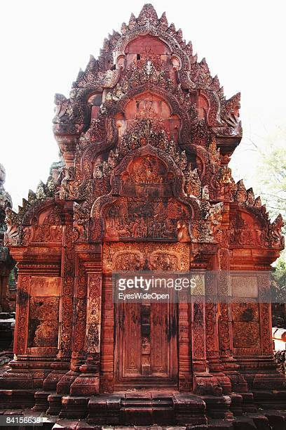 The library of Banteay Srei or Srey, the temple with the most delicated and preserved stonecarvings in the Angkor Archeological Park in Siem Reap on...