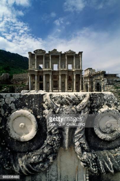 The Library of Celsus 110135 AD built in commemoration of Tiberius Julius Celsus Polemaeanus Ephesus Turkey Roman Civilisation 2nd century
