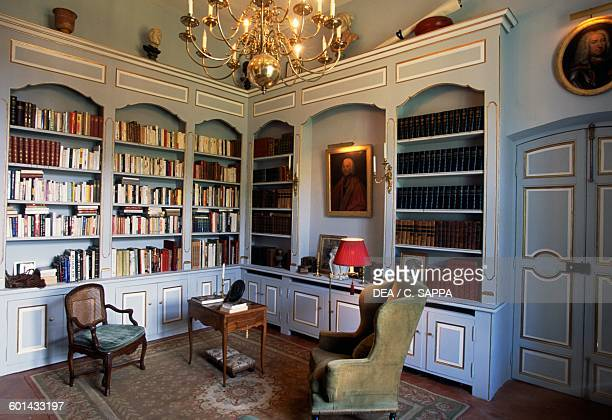 The library of Chateau d'Entrecasteaux ProvenceAlpesCote d'Azur France 11th17th century