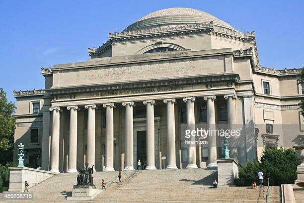 the library of columbia university - neoklassiek stockfoto's en -beelden