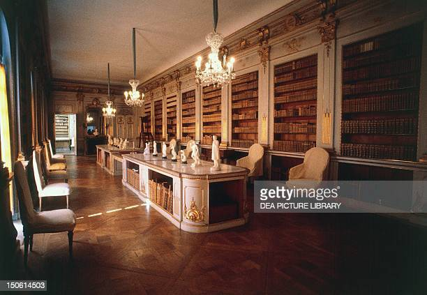 The library of Drottningholm Castle begun in 1662 by architects Nicodemus Tessin the Elder and Nicodemus Tessin the Younger Sweden