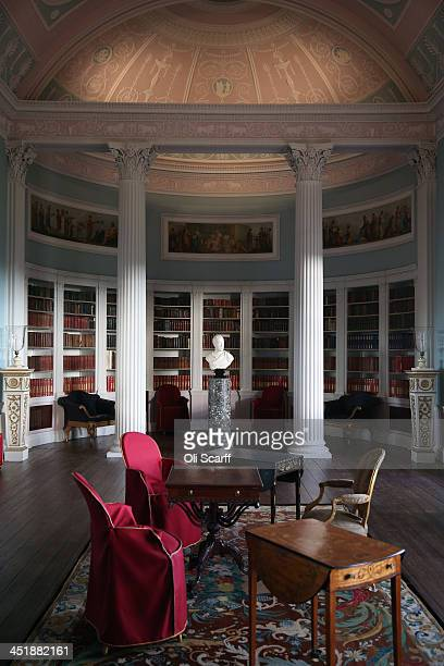 The Library of English Heritage's Kenwood House on the northern edge of Hampstead Heath which has undergone a major refurbishment on November 21 2013...