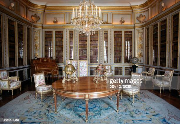 The library of Louis XVI in the King's interior apartments Palace of Versailles IledeFrance France 18th century