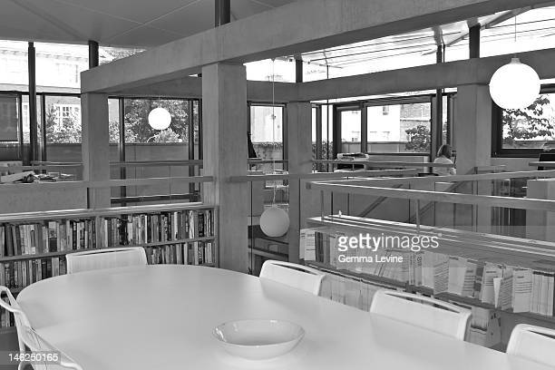 The library of the Maggie's Centre at Charing Cross Hospital in London circa 2010 The building was designed by Rogers Stirk Harbour Partners and...