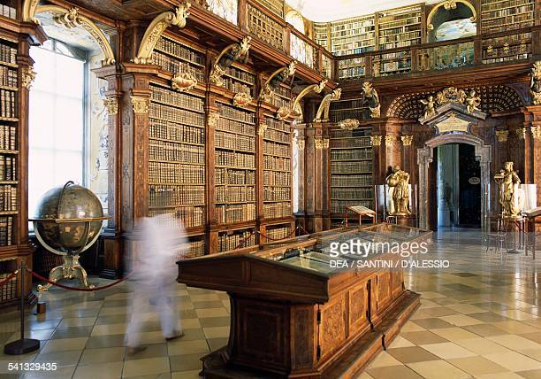 The library of the Melk Abbey Benedictine abbey built between 1702 and 1736 by the architect Jakob Prandtauer Wachau Austria 18th century