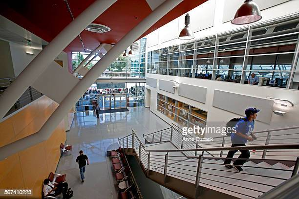 The library officially opened it's doors on March 27 but today is the Grand Opening ceremony at El Camino College Compton Center opening a state of...