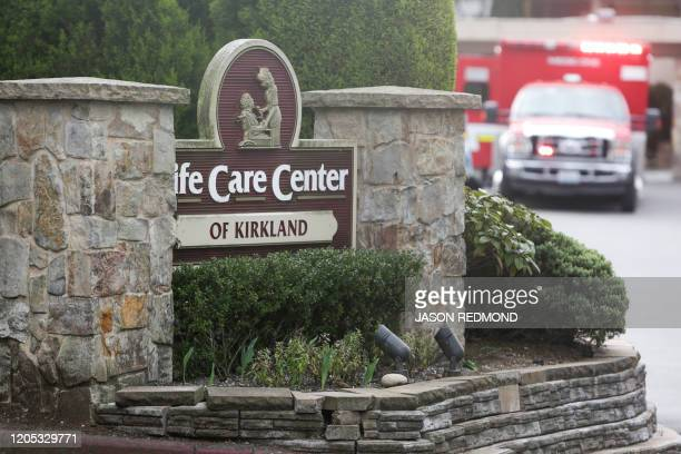 The Life Care Center nursing home where some patients have died from COVID19 is pictured in Kirkland Washington on March 5 2020 The US reported its...