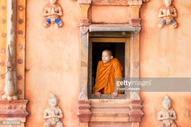 the life of a novice in temple,asia. - cambodia stock pictures, royalty-free photos & images