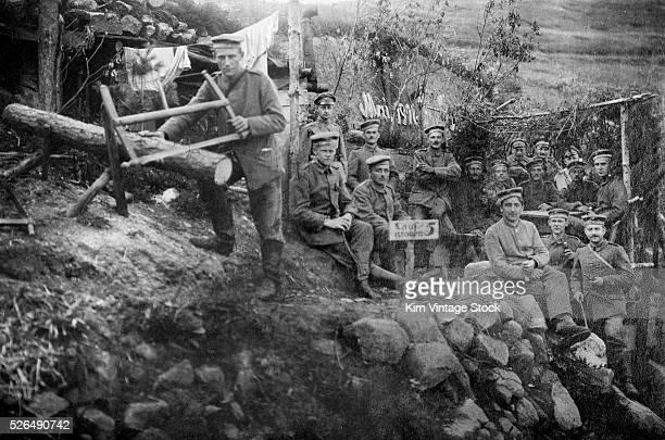 The life of soldiers at the front is on display in a portrait shot at a trench