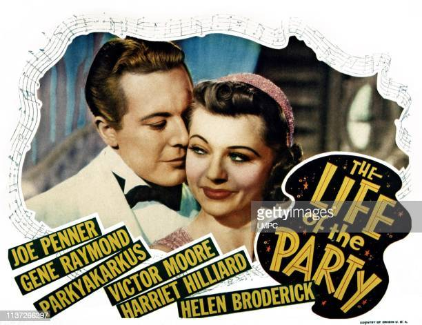 The Life Of The Party lobbycard from left Gene Raymond Harriet Hilliard 1937