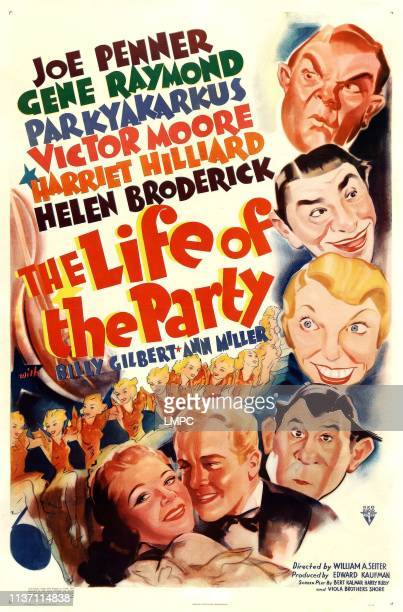 The Life Of The Party poster US poster art clockwise from top Victor Moore Joe Penner Helen Broderick Parkyakarkus Gene Raymond Harriet Hilliard 1937