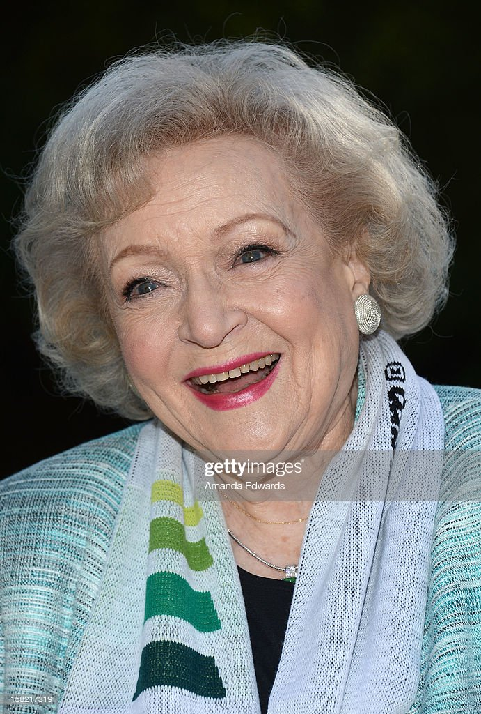The Lifeline Program spokesperson Betty White hosts the 'White Hot' Holiday Event at The Los Angeles Zoo on December 11, 2012 in Los Angeles, California.