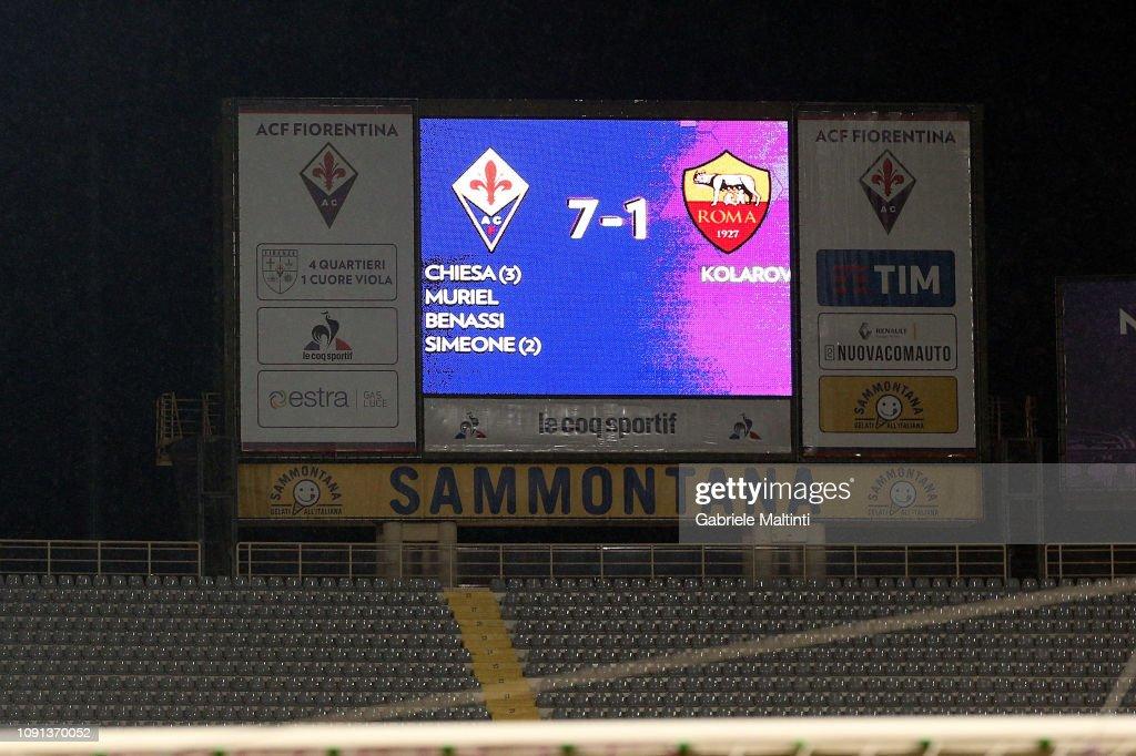 ACF Fiorentina v AS Roma - Coppa Italia : News Photo