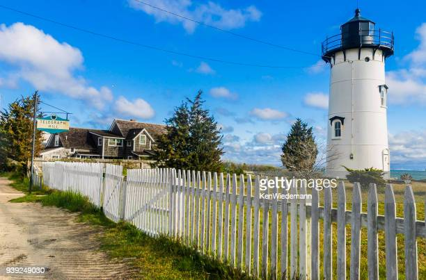 the light on telegraph hill - martha's_vineyard stock pictures, royalty-free photos & images