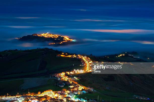 the light river - republic of san marino stock photos and pictures