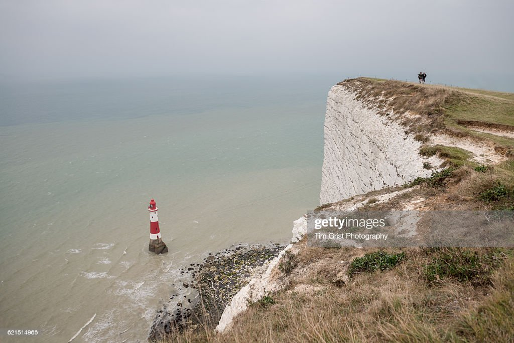 The Lighthouse at Beachy Head, East Sussex. : Stock Photo