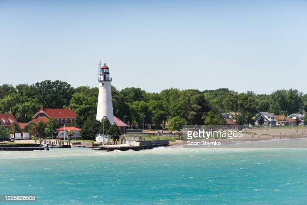 the lighthouse at fort gratiot, mi - ポートヒューロン ストックフォトと画像
