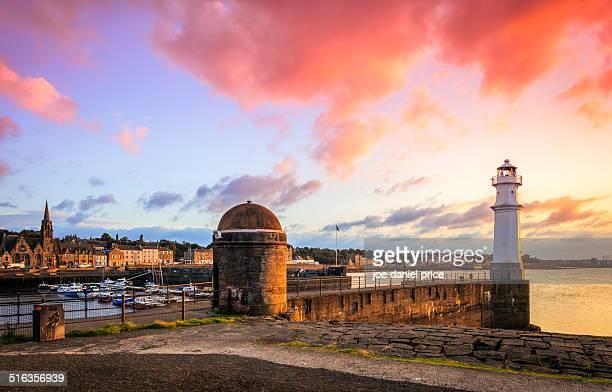 the lighthouse at leith, edinburgh, scotland - edinburgh scotland stock-fotos und bilder