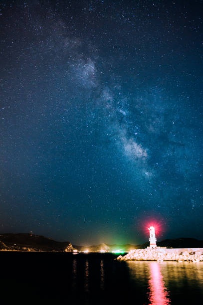 The Lighthouse In Kas  And The Milky Way
