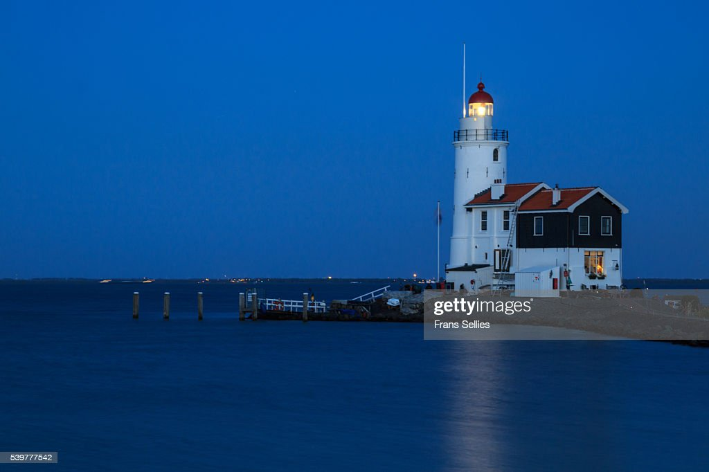 The lighthouse of Marken, North Holland, the Netherlands : Stockfoto