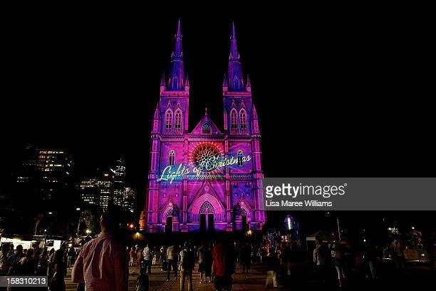 The 'Lights of Christmas' are featured at St Mary's Cathedral on December 13 2012 in Sydney Australia Produced by Creative Director Anthony Bastic...