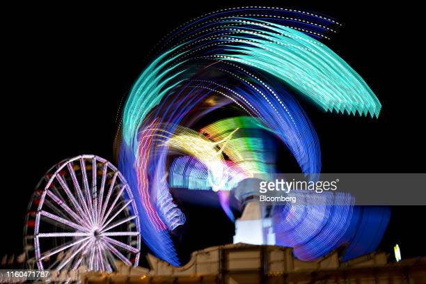 The lights of fair attractions are seen in this long exposure made during the Iowa State Fair in Des Moines Iowa US on Thursday Aug 8 2019 The 2020...