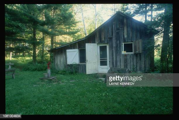 The lights shine from inside the Leopold family cabin which was converted from a chicken coop It stands near the Wisconsin River and is now part of...