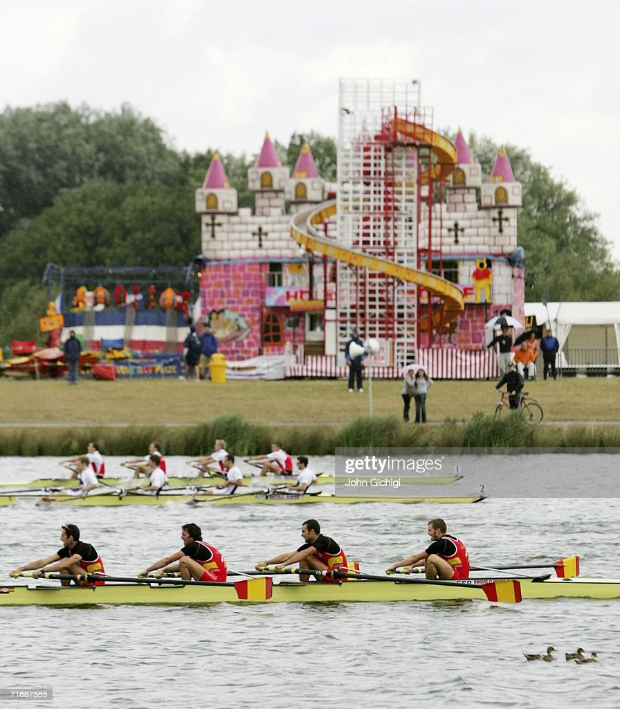 The Lightweight Mens Four Of Spain Compete During World Rowing Championships On August 21