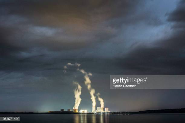 The lignitefired power station of Boxberg is pictured at night on April 28 2018 in Klitten Germany