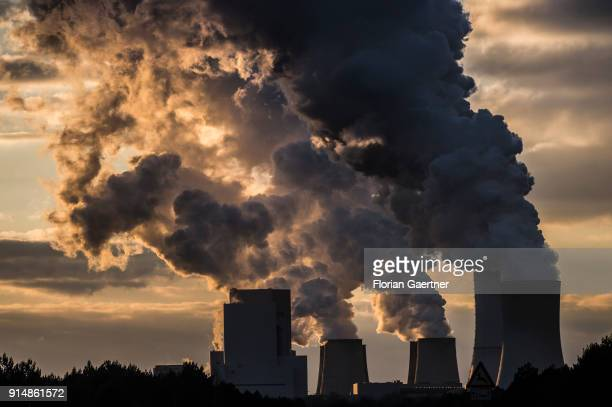 The lignitefired power station of Boxberg is pictured on February 05 2018 in Boxberg Deutschland