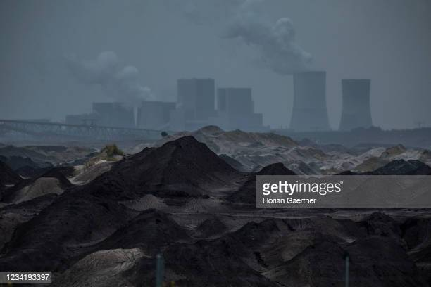The lignite-fired power station of Boxberg is pictured on July 25, 2021 in Hammerstadt, Germany. The Boxberg power plant is going to be powered off...
