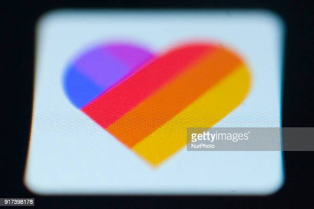 The Like video editing app is seen on a mobile phone on February 12 2018 The Like applicatin lets users easily add video effects to video while...