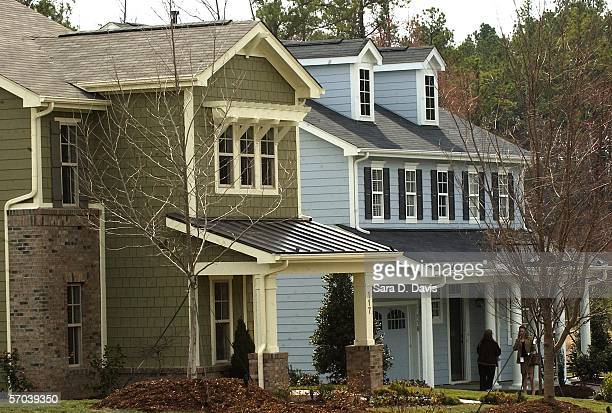 The Lily Pond and Katonah model homes lie in Martha Stewart's Twin Lakes Community on March 9 2005 in Cary North Carolina Twin Lakes is the first of...