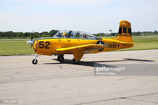 The Lima Lima Flight Team prepare civilian flights on media day for the 53rd Annual Chicago Air Water Show at the Gary Jet Center in Gary Indiana on...