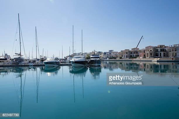 The Limassol Marina on November 04 2016 in Limassol Cyprus