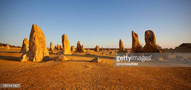 The limestone formations in The Pinnacles in Australia