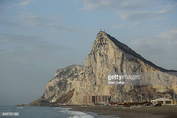 The limestone Rock of Gibraltar stands on June 24 2016 in Gibraltar Gibraltar is a British dependent territory that profits from tourism finance and...
