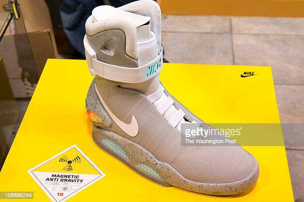The Limited Edition 2011 NIKE MAG shoes are available for $5000 at Kickk Spott in Washington DC on December 28 2012 The shoes are a replica from the...