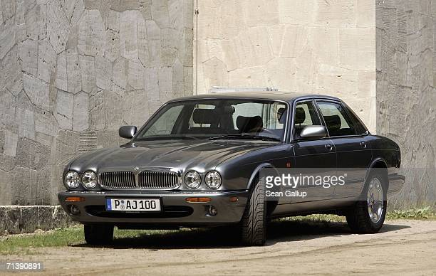 The limousine for the wedding party of German TV host Guenther Jauch waits outside on July 7 2006 in Potsdam Germany