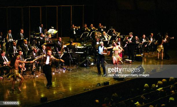 The Lincoln Center Jazz Orchestra and the Tito Puente Orchestra perform together in the 'The Spirit of Tito Puente' concert at the Sixth Annual...
