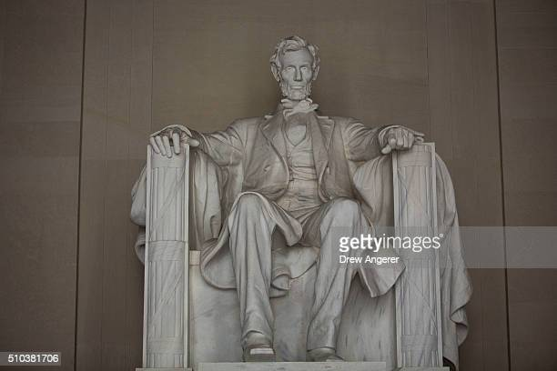 The Lincoln Memorial is seen February 15 2016 in Washington DC Rubenstein announced he is giving 18 million dollars to make improvements to the...