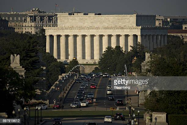 The Lincoln Memorial stands past Arlington Memorial Bridge in Washington DC US on Monday Aug 29 2016 The White House's priorities for inclusion in a...