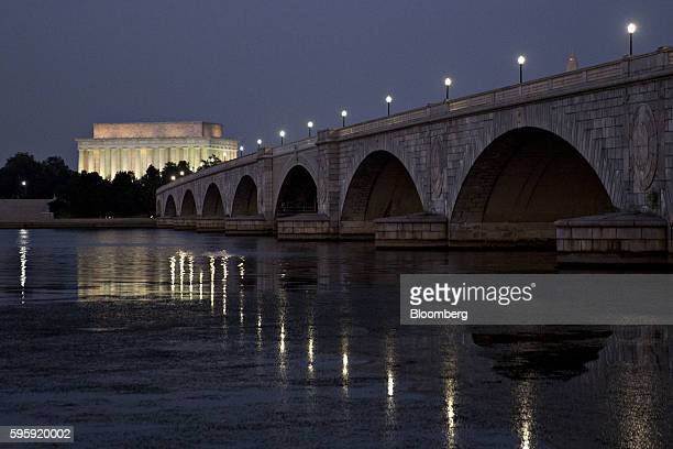 The Lincoln Memorial stands past the Arlington Memorial Bridge in Washington DC US on Thursday Aug 25 2016 House Speaker Paul Ryan said on a...