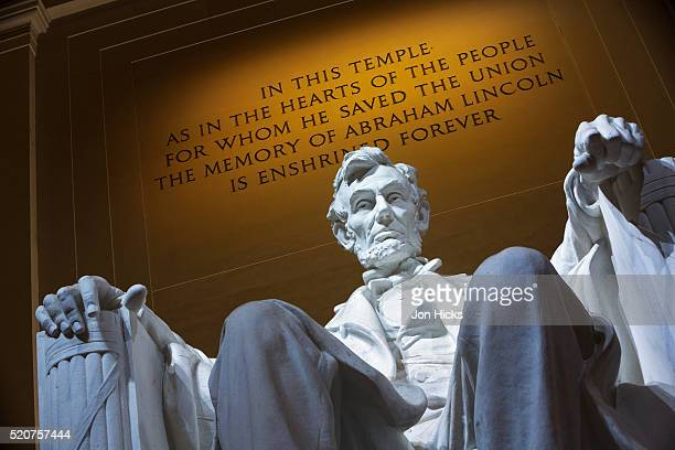 the lincoln memorial, washington dc. - lincoln memorial stock pictures, royalty-free photos & images