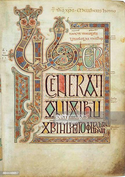 The Lindisfarne Gospels 715721 Eadfrith Found in the collection of the British Museum London